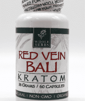 Bali Red Vein Whole Herbs 60ct