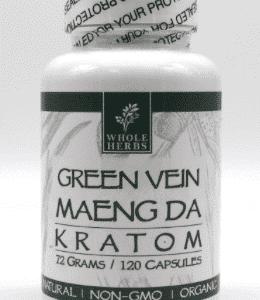 Maeng Da Green Vein Whole Herbs 120ct