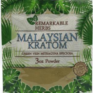 Remarkable Herbs Malaysian Kratom 3oz