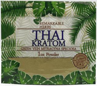 Remarkable Herbs Thai Kratom 1oz