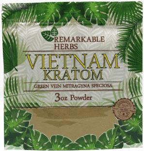 Remarkable Herbs Vietnam Kratom 3oz